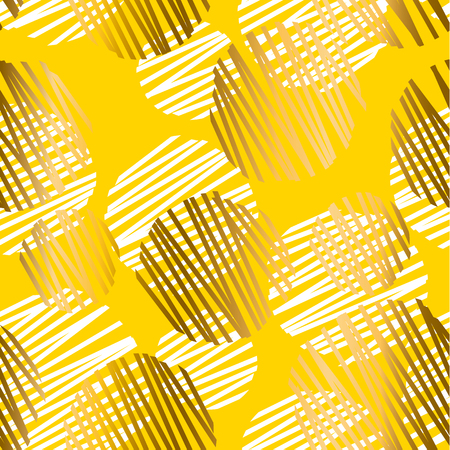 Abstract summer yellow seamless pattern. Geometric  design element. Gold sunny simple elegant stock vector illustration for background, wrapping paper, fabric.