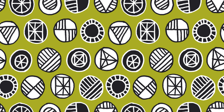 Abstract safari style seamless pattern. Decorative tribal elements for background, wrapping paper, fabric. Endless repeatable motif for surface design. stock vector illustration.