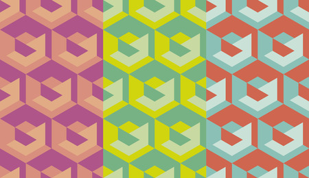 Simple geometry seamless pattern for background, wrapping paper, fabric. Endless repeatable motif for surface design