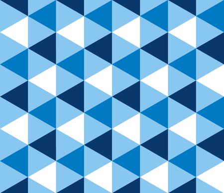 Nahtloses Muster der sommerblauen Geometrie des Sommers für Hintergrund, Geschenkpapier, Stoff. Endlos wiederholbares Motiv für die Oberflächengestaltung