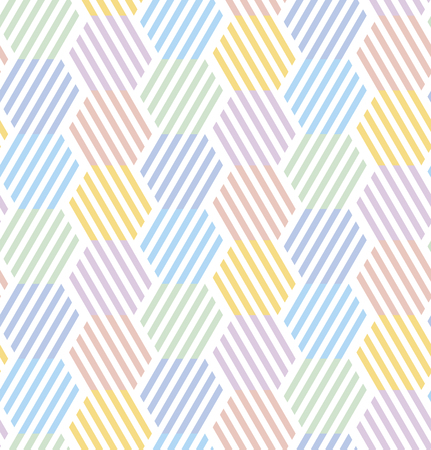 Simple pale color geometric seamless pattern for background, wrapping paper, fabric. Abstract summer style repeatable motif for surface design
