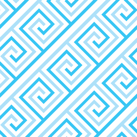 Abstract sea wave geometric seamless pattern. Simple fabric texture background for wrapping paper, fabric, surface design Illustration