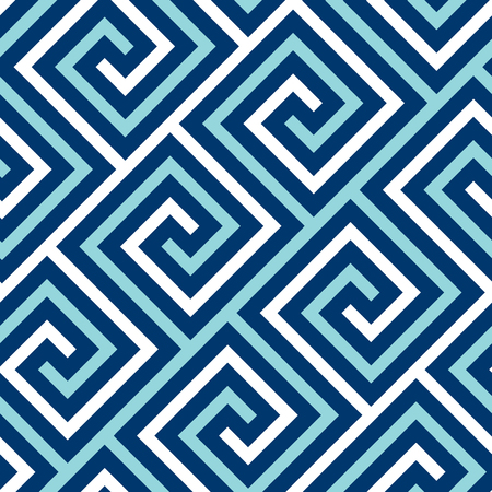 Concept blue and white sea seamless pattern. Simple geometric repeatable motif for background, wrapping paper, fabric, surface design