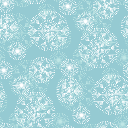 Abstract geometric winter snowflakes seamless pattern. Xmas snow star repeatable motif for seamless pattern for background, wrapping paper, fabric, surface design