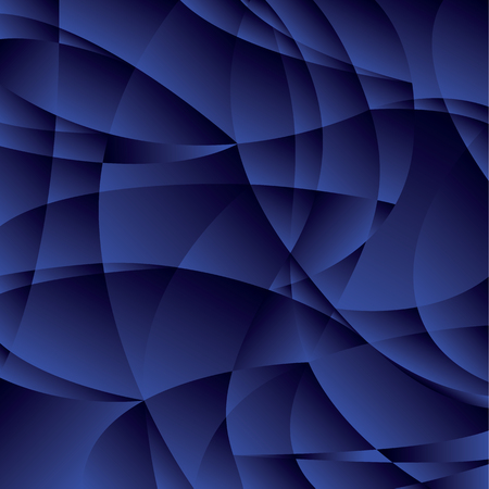 Concept geometric night blue background with curve shapes and gradient. stock illustration image for background. minimalistic design. abstract design for modern cover, brochure, flyer. Illustration