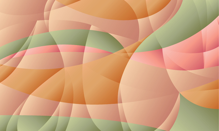 Concept geometric pastel color background with curve shapes and gradient. stock illustration image for background. minimalistic design. Abstract pale design element for modern cover, brochure, flyer.