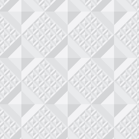 Concept light gray geometry seamless pattern with square tile. Repeatable geometric motif for header, poster, background. Vettoriali
