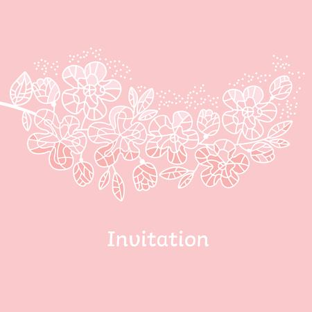 Decorative tender pastel color sakura flowers.