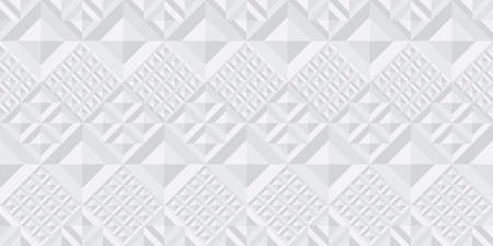 Concept light gray geometry seamless pattern with square tile. Repeatable geometric motif for header, poster, background.