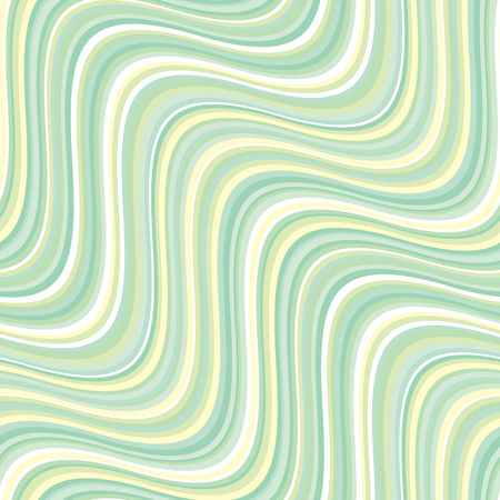 Vintage 60s style pale green stripes seamless pattern in pale colors. Repeatable motif for fabric, background, surface design. Stock vector illustration.