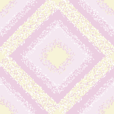 Candy pastel colors simple rhombus seamless pattern. Geometric plaid carpet simple dotted textured repeatable motif.