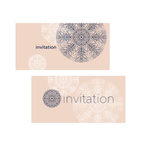 Laconic luxury snowflake greeting card design element. Line structure minimal style xmas decor. Christmas vector.