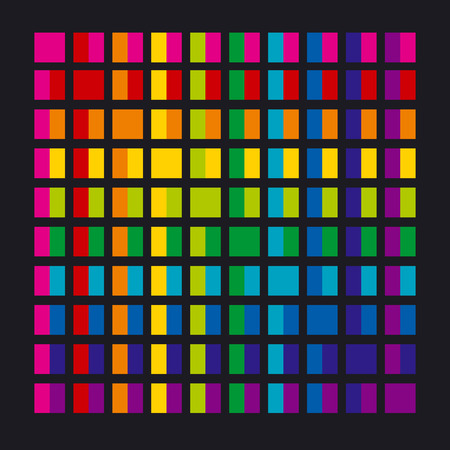 Abstract rainbow color palette combination in rectangle shapes. vector illustration.