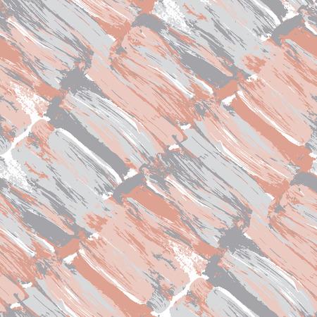 Pale pastel color brush stroke modern seamless pattern. Paint traced vector illustration cosmetics, feminine, celebration projects. Ilustração