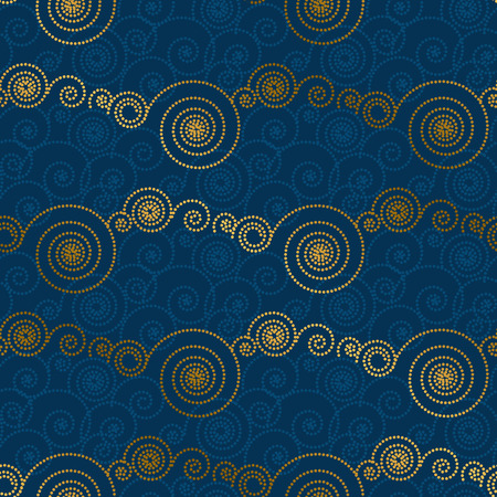 Abstract decorative dot cloud seamless pattern. Vector illustration. Spiral simple geometric background, wrapping paper, fabric design. Illustration