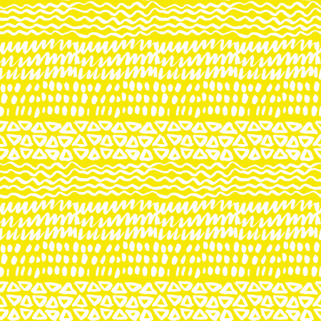 Sunny summer sketch background. Naive hand drawn doodle seamless pattern. Brush stroke simple shapes repeatable motif.