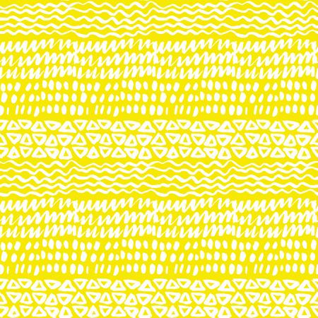 Zonnige zomer schets achtergrond. Naïef hand getrokken doodle naadloze patroon. Penseelstreek eenvoudige vormen herhaalbaar motief.