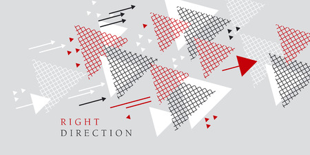 Abstract modern style geometry design element. vector illustration for header, card, poster, invitation. Tech line grid pattern triangle motif.
