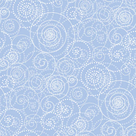 Christmas and winter frosty drawing seamless pattern. Vector illustration. Spiral simple geometric xmas decorative background, wrapping paper, fabric design.