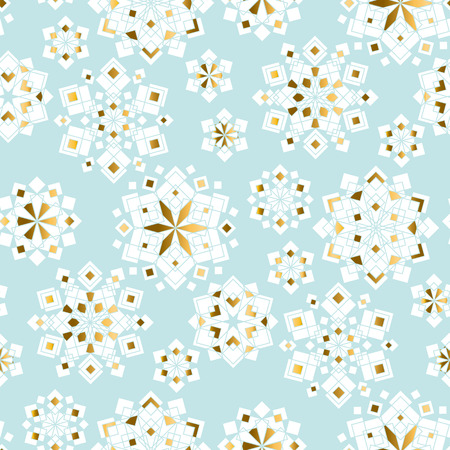 Luxury Tender Xmas Snowflakes Geometric Seamless Pattern Christmas