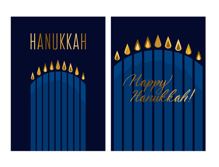 hanukkah juish vector illustration. jewish menorah simple vector icon. hanuka candles symbol.