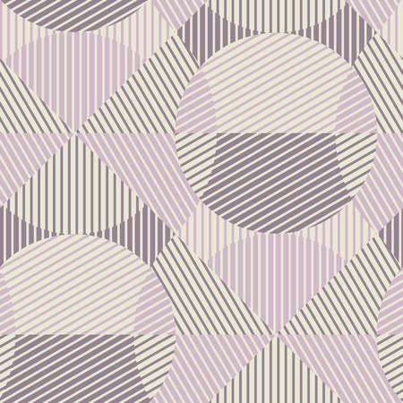 Geometric striped seamless pattern in scandinavian dust rosy colors. Abstract geometry repeatable motif. Tile rapport for textile, fabric, tissue, wrapping paper, surface design. Vector illustration.