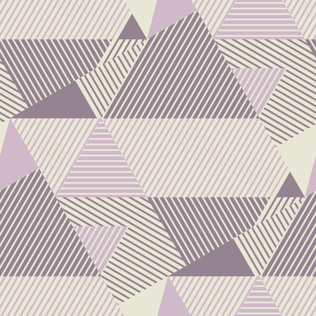 Geometric striped seamless pattern in scandinavian dust rosy colors. Abstract geometry repeatable motif. Tile rapport for textile, fabric, tissue, wrapping paper, surface design. Vector illustration
