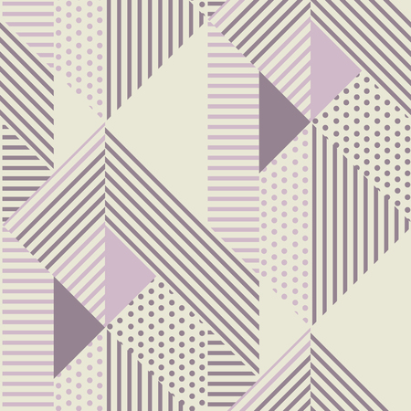 Geometric striped seamless pattern in scandinavian dust rosy colors.