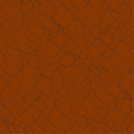 Red terracotta soil cracks seamless pattern. Vintage craquelure repeatable surface texture for background, textile, surface design.