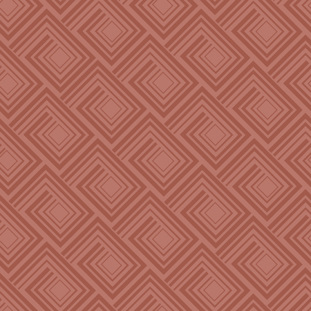 Geometry greek meander seamless pattern. quadratic brown terracotta color tile background for surface design, fabric, wrapping paper Çizim