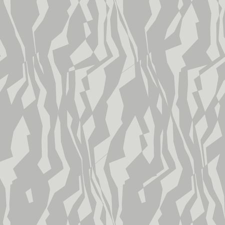 Random lines and waves seamless pattern. Chaotic angles and monochrome lines. Simple vertical grey vector backdrop. Marble texture, background, textile, wallpaper, wrapping paper illustration Vektorové ilustrace