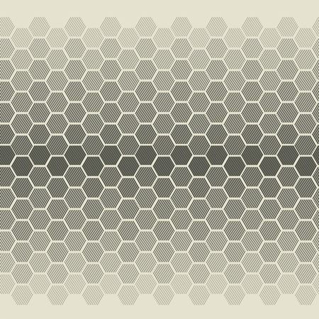 Abstract degrade illusion with striped hexagon shapes. One-color minimal vector illustration for background, web and print design. Banque d'images - 124617404
