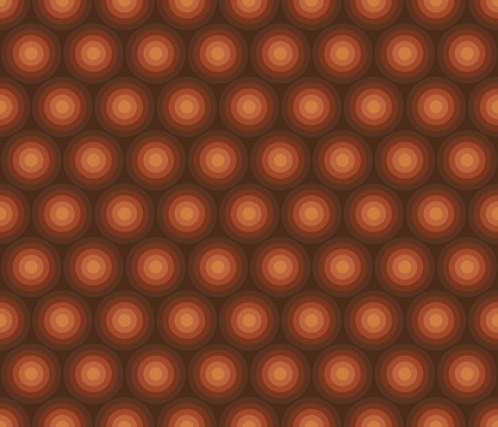 Simple vintage orange color geometric circle seamless pattern. Endless motif for textile, fabric, wrap, web and print design. Textured background with geom decor. Banque d'images - 124620031