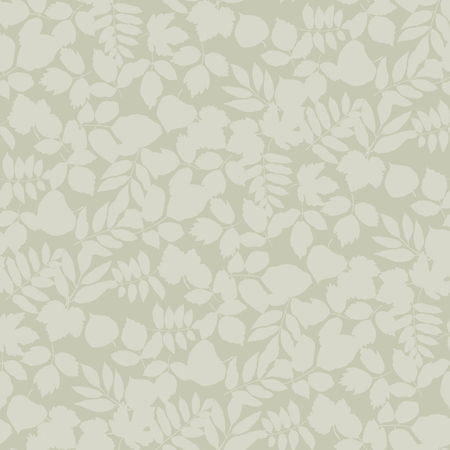 Leaves silhouette seamless pattern in natural beige textile color. Pale simple flat grass and foliage repeatable motif for fabric and textile. endless rapport for wrap and backdrop Banque d'images - 124620048