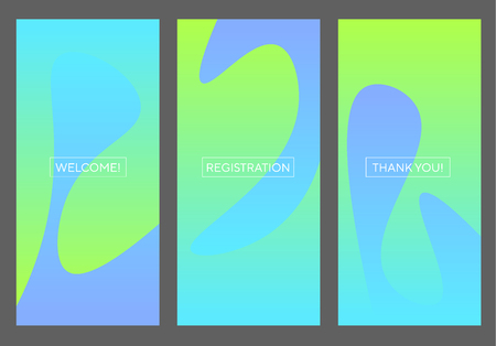 Water and flexiness abstract ideas concept. Blue and mint green fresh RGB gradient banner for screen, surface design, background. Abstract vector illustration for web, ui, ux, social media. Banque d'images - 124620057