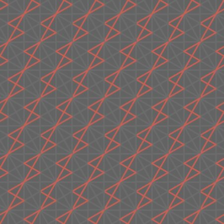 Modern geometric line grid seamless pattern. Concept grid in mesh and coral pink colors. Repeatable motif for fabric, textile, wrap, surface, web and print design.  イラスト・ベクター素材