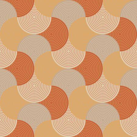 Vintage colors wavy stripe seamless pattern. Orange and yellow retro vibes repeatable motif for background, wrap, fabric, textile, wrap, surface, web and print design. Ilustração