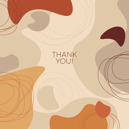 Terracotta colors organic shapes square composition. Liquid abstract organic forms vector element for for card, header, invitation, poster, social media, post publication.