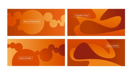 Abstract natural liquid shapes composition for card, header, invitation, poster, social media, post publication. Decorative orange and brown gradient vector element.