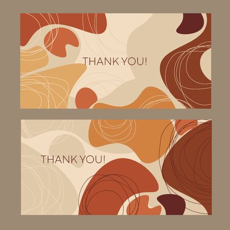Fall warm colors organic shapes horizontal composition. Liquid abstract organic frame vector element for for card, header, invitation, poster, social media, post publication. Иллюстрация