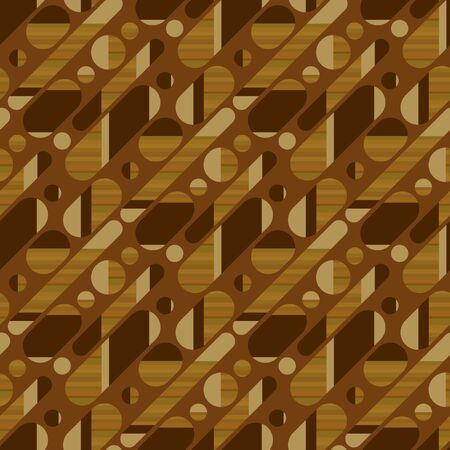 Concept simple wood textured geometric seamless pattern with 50s vintage vibes. Oblong oval shapes repeat motif for for fabric, textile, wrap, surface, wallpaper, web and print design.