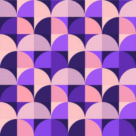 Elegant pastel vintage geometric seamless pattern. Wavy violet repeatable motif for background, wrap, fabric, textile, wrap, surface, web, textile, wallpaper and print design.