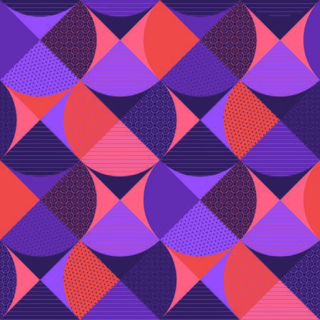 Retro water drop geometric seamless pattern. Wavy violet repeatable motif for background, wrap, fabric, textile, wrap, surface, web, textile, wallpaper and print design.