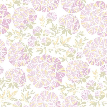 Rosy pastel colors peony flowers seamless pattern for background, fabric, textile, wrap, surface, web and print design. Elegant light wedding style floral rapport. Modern stylish mosaic floral motif  Ilustração