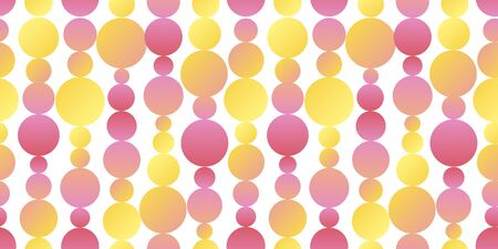 Cute simple geometric polka dot seamless pattern for background, fabric, textile, wrap, surface, web and print design. Naive pastel bright neon colors rapport. Ilustracja