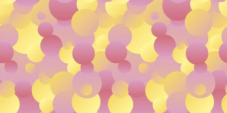 Pastel color circles chaos seamless pattern for background, fabric, textile, wrap, surface, web and print design. Naive yellow and pink colors rapport.