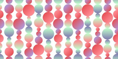 Pastel neon color circles seamless pattern for background, fabric, textile, wrap, surface, web and print design. Fun and cute simple geometric rapport.