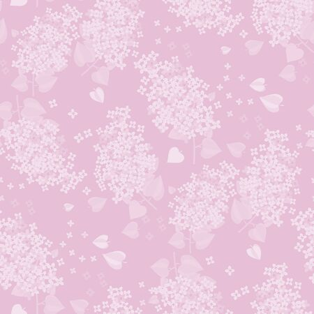 Tender lilac spring flower blossom seamless pattern for background, wrap, fabric, textile, wrap, surface, web and print design. Light pale color romantic mood repeatable motif