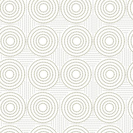 Abstract seeds dot geometric shapes seamless pattern for background, fabric, textile, wrap, surface, web and print design. Ilustrace