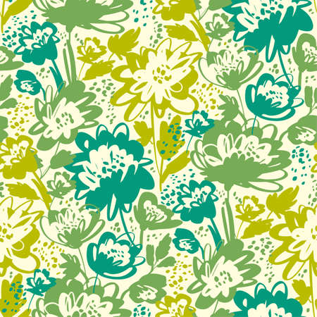 Bright green summer grass meadow seamless pattern for background, fabric, textile, wrap, surface, web and print design.